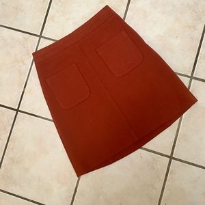NWOT ANNE TAYLOR Rust Colored Pencil Skirt